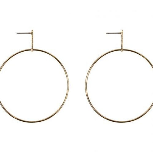 Big Hoop Studs -Gold