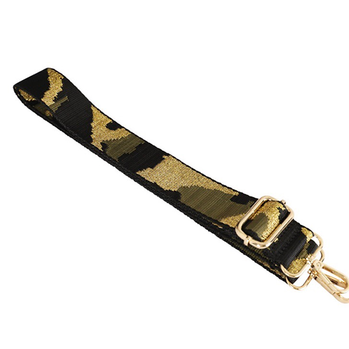 Camo Bag Strap - Green / Black