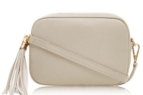 Lila Leather Cross Body Bag - Cream