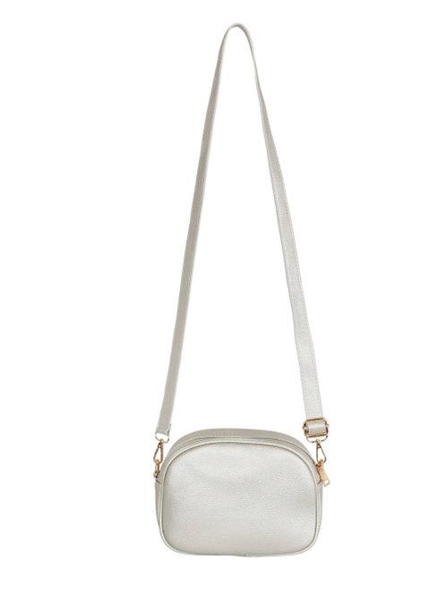 Mia Cross Body Bag -Silver