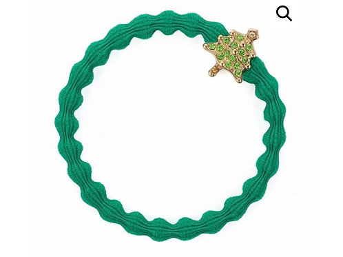 By Eloise Bangle Band - Green / Gold Christmas Tree