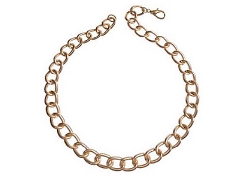 Short Rounded Chain Necklace - Gold