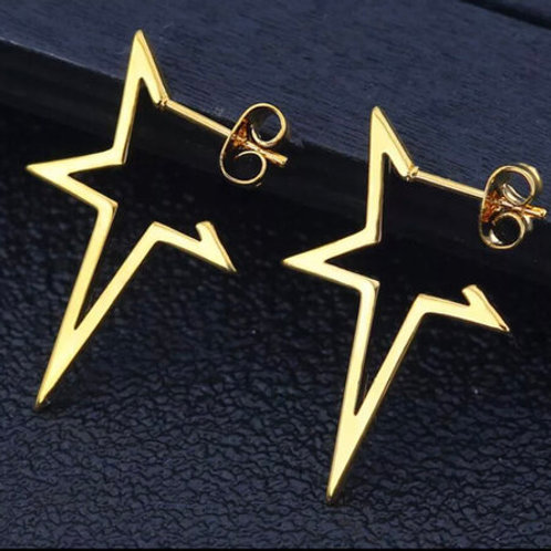 Four Point Star Studs - Gold