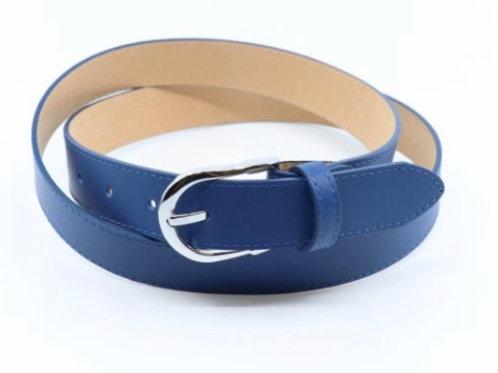 Mia Leather Belt - Blue