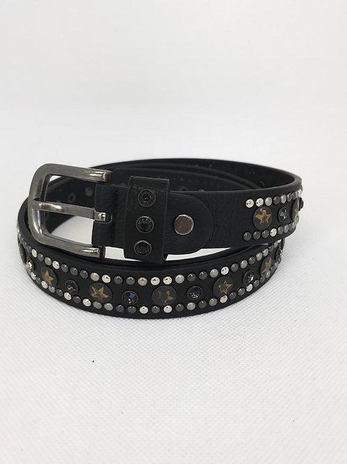 Star Studded Belt - Black