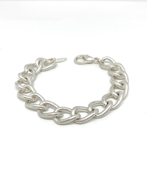 Rounded Chain Bracelet - Silver