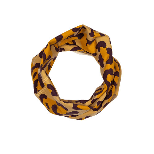 Leopard Print Multiway Band - Mustard Yellow