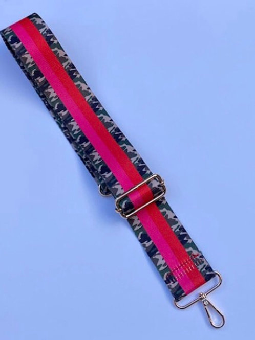 Classic Camo Bag Strap - Red/Pink