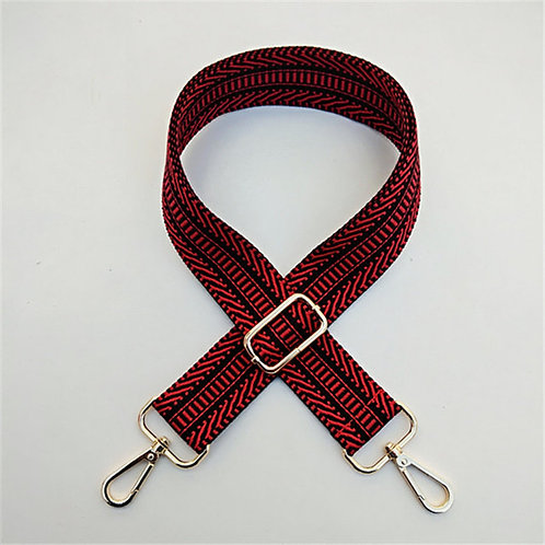 Aztec Bag Strap - Red /Blue