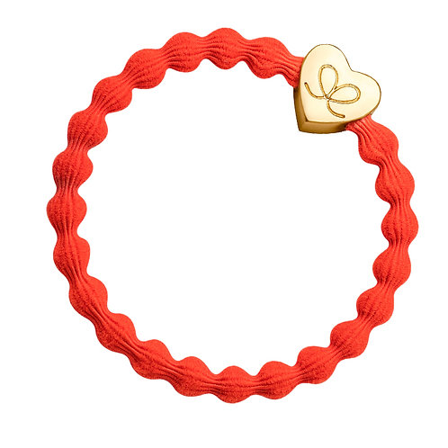 By Eloise Bangle Band - Orange / Gold Heart