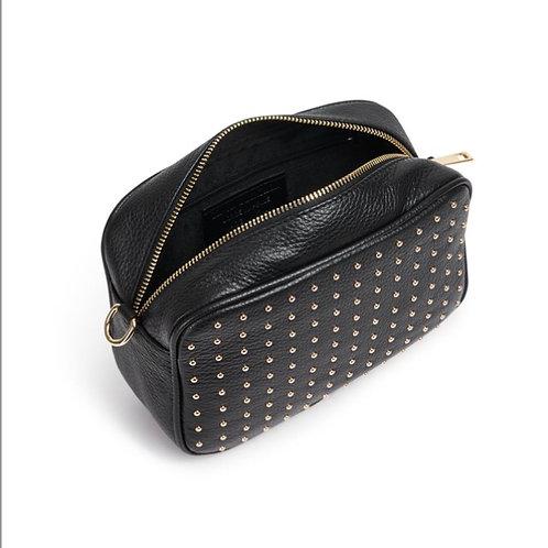 Eden Leather Cross Body Bag - Black / Gold