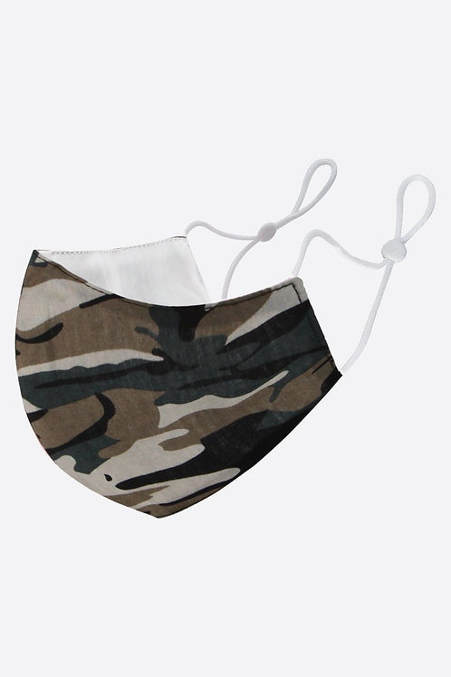 Fabric Face Mask - Camouflage