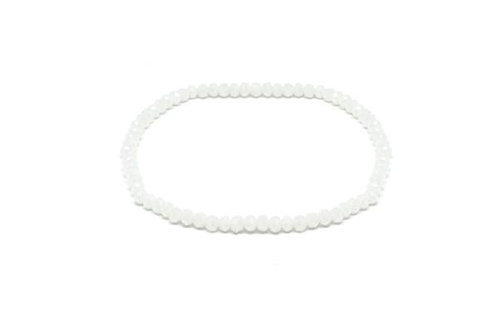 Crete Crystal Stretch Bracelet -White
