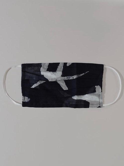 Fabric Face Mask - Starfish Navy White