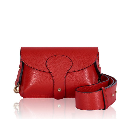 Bria Leather Clutch Bag - Red