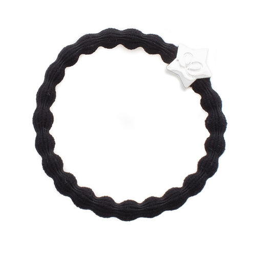 By Eloise Bangle Band - Black with Silver Star