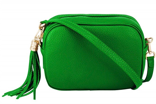 Lila Leather Cross Body Bag - Green