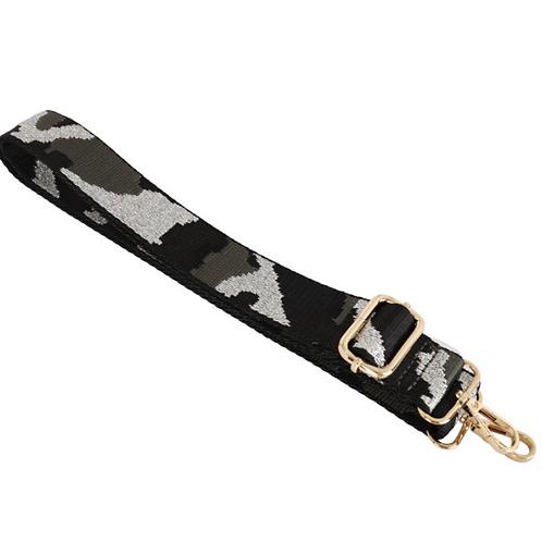 Camo Bag Strap - Silver / Black