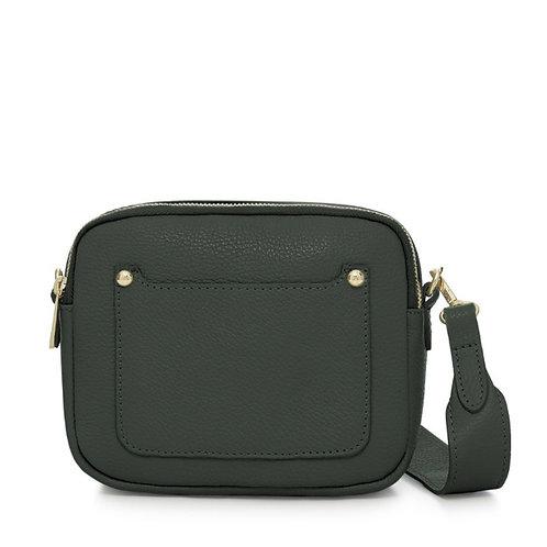 Zara Leather Cross body Bag - Dark Green