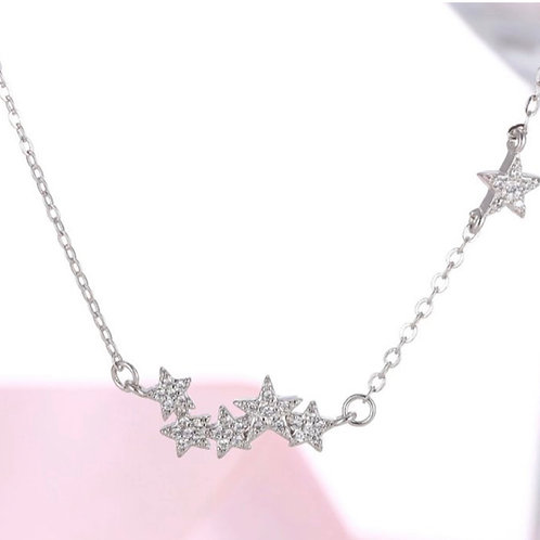 Star Cluster Necklace -Sterling Silver
