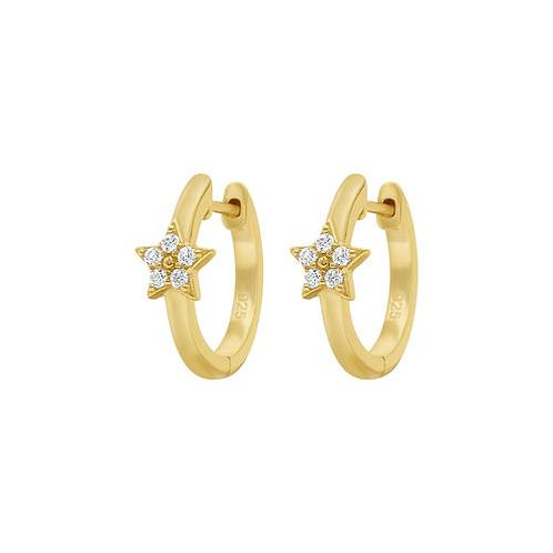 Mini Star Huggy Hoops - Gold