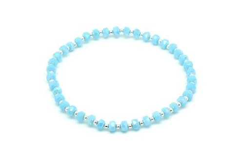 Keely Crystal Stretch Bracelet -Blue