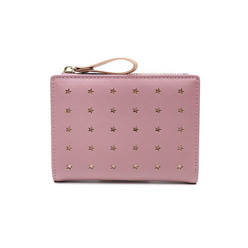 Faux Leather Star Purse - Pink