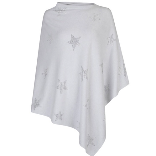 Star Poncho - Grey