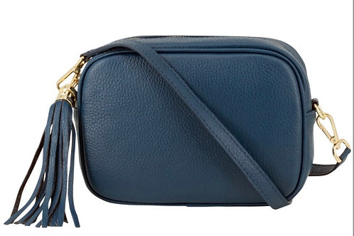 Lila Leather Cross Body Bag -  Teal