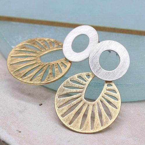 Sunray Earrings - Gold /Silver