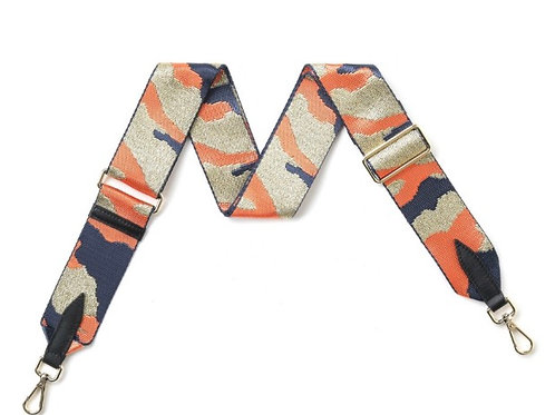 Camo Bag Strap -  Orange / Gold