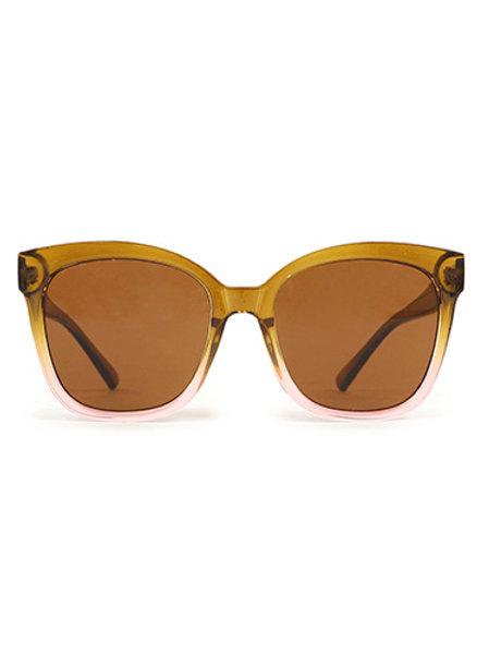 Marcia Sunglasses - Olive/ Pink