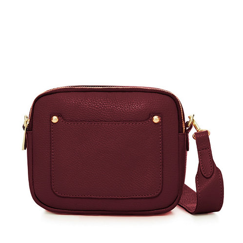 Zara Leather Cross body Bag - Dark Red