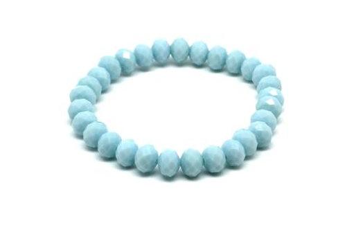 Naxos Crystal Stretch Bracelet - Aqua