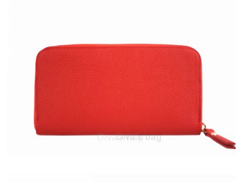 Eve Leather Wallet - Red