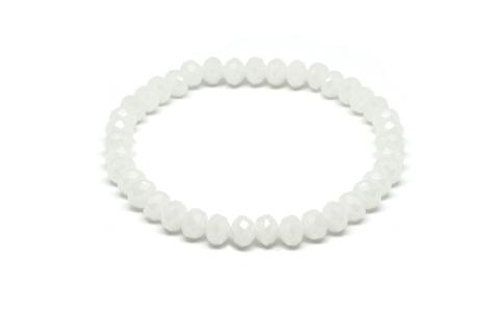 Paros Crystal Stretch Bracelet -White