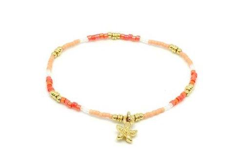 Ibiza Bracelet -Gold / Coral