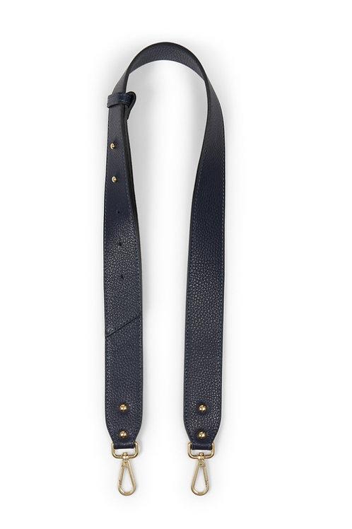 Leather Bag Strap - Navy Blue