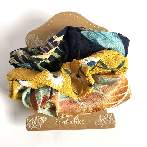 Set of 3 Scrunchies - Tropical