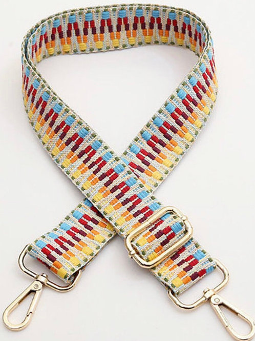 Aztec Bag Strap -  Multicolour
