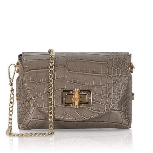 Hope Croc Leather Bag - Taupe