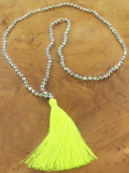 Tassel Necklace - Neon Yellow