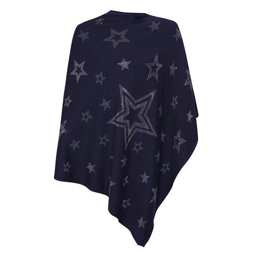 Bright Star Poncho - Navy Blue