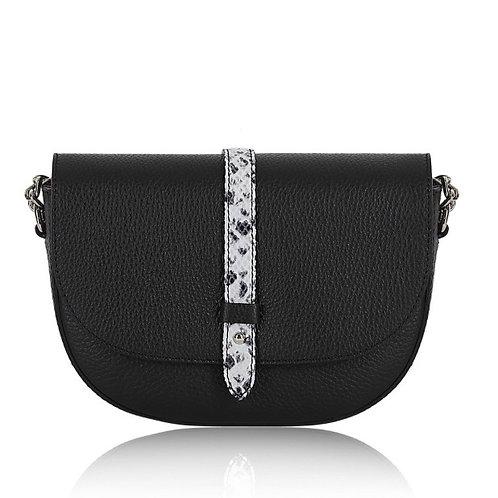 Sofia Leather Cross Body Bag -  Black