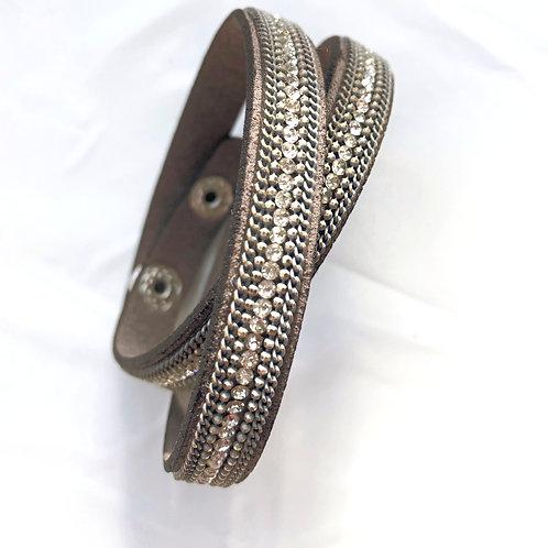 Double Wrap Bracelet - Grey