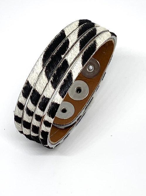 Leather Cuff - Zebra Print