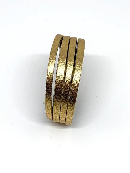 Leather  Cuff -  Gold