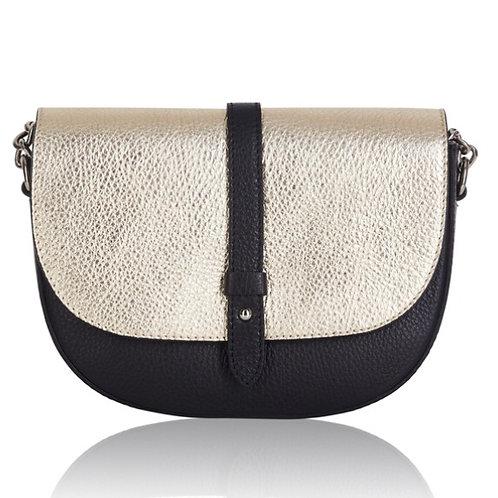 Sofia Leather Cross Body Bag -  Gold