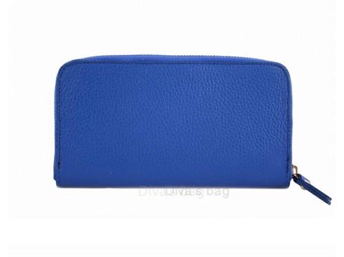 Eve Leather Wallet - Cobalt Blue