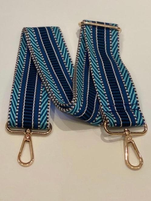 Aztec Bag Strap -  Blue